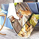 Custom Blankets with Photos Collage – 5 Images Cozy Super Soft Warm Comfortable Fleece Blanket – Use Photos from Your Wedding, Birthday, Cats, Dogs, Pets, Children, Vacation - 60x80 Fleece