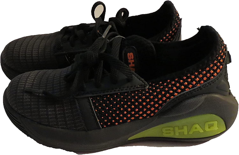 Shaq Youth Athletic Tennis Shoes Tie Black Orange