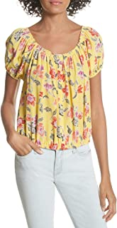 Joie Womens Derfuta Hand Dyed Off The Shoulder Blouse