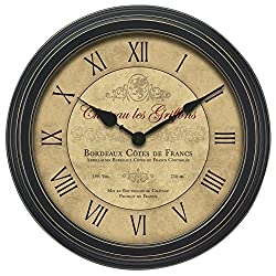 Chaney 50324A1 18-Inch Vintage Bordeaux Wall Clock