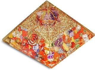 PREK Mix Chakra orgone Pyramid with Amethyst markabaenergy Generator Chakra Balancing Size 2.5-3 inch