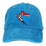 chipo Sombrero de papá Bandera de Croacia Unisex con Gorra de béisbol de Mapa Sombreros de papá Ajustables de Mezclilla Vintage Elegantes