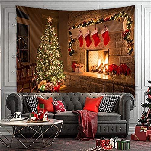 LILHXIU Tapiz de Navidad a la moda para colgar en la pared de fondo de Navidad, tela decorativa de estilo occidental, decoración de pared multifuncional para fiestas, eventos/tiendas de 137 x 127 cm