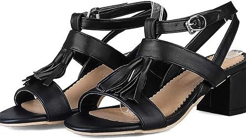 Plus Taille Taille 32-48 Summer Sandals femmes High Heels Roman Sandals Sexy Peep-Toe Wedding Stiletto Pumps chaussures Woman 744-8 noir 4.5  à vendre en ligne