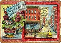 レトロメタルサイン1891 Reeves ParvinCos。ローストコーヒーヴィンテージ金属サイン