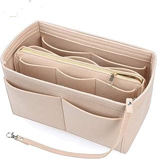 Felt Purse Organizer Insert with Zipper for Handbag Tote Fit LV Speedy Neverfull