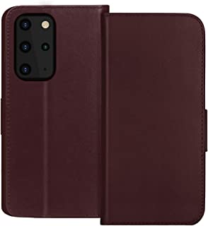 "FYY Samsung S20 Plus Case 6.7"", Luxury Cowhide Genuine Leather [RFID Blocking] Wallet Case with Kickstand and Card Slots f..."