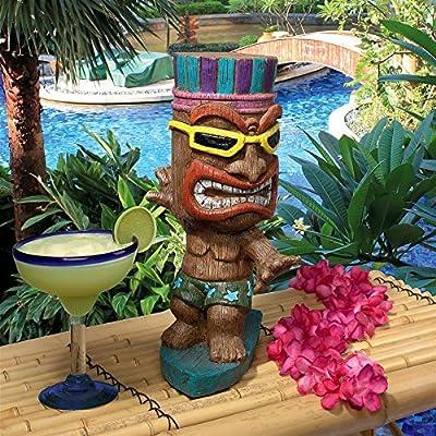Design Toscano AL60180 Kahuna Tiki Surfer Dude Statue, Full Color