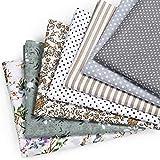 Mooklin roam tela algodon telas patchwork, 7 piezas 50 x 50 cm tejido lavable retales tela para coser, telas decorativas costura y manualidades, multicolor