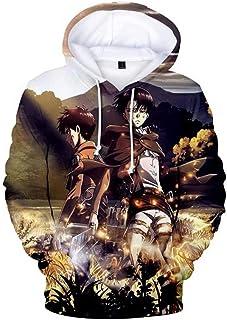 Attack on Titan Hoodie, 3D Print Cosplay Hoodie Jacket,3D Anime Hoodie Coat