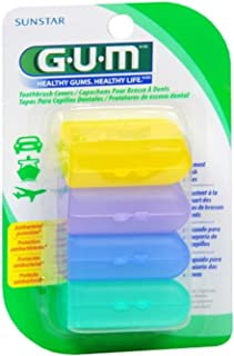 GUM Toothbrush Covers 4 Each (Pack of 2)