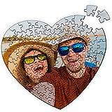 Puzzle Corazón Personalizado. Personaliza con tu Foto. Puzzle Cartón Acabado Brillante. Varios tamaños. 111 Piezas