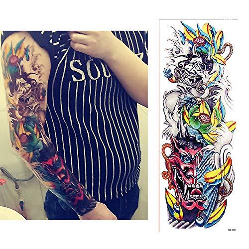 tzxdbh 5 Pezzi – 5 Pezzi di Geely Carpa Pieno Fiore Arm Tattoo Adesivo per Il Corpo Pittura Acqua trasferimento Tatuaggio Sleeve-in Tatuaggi di Qb041