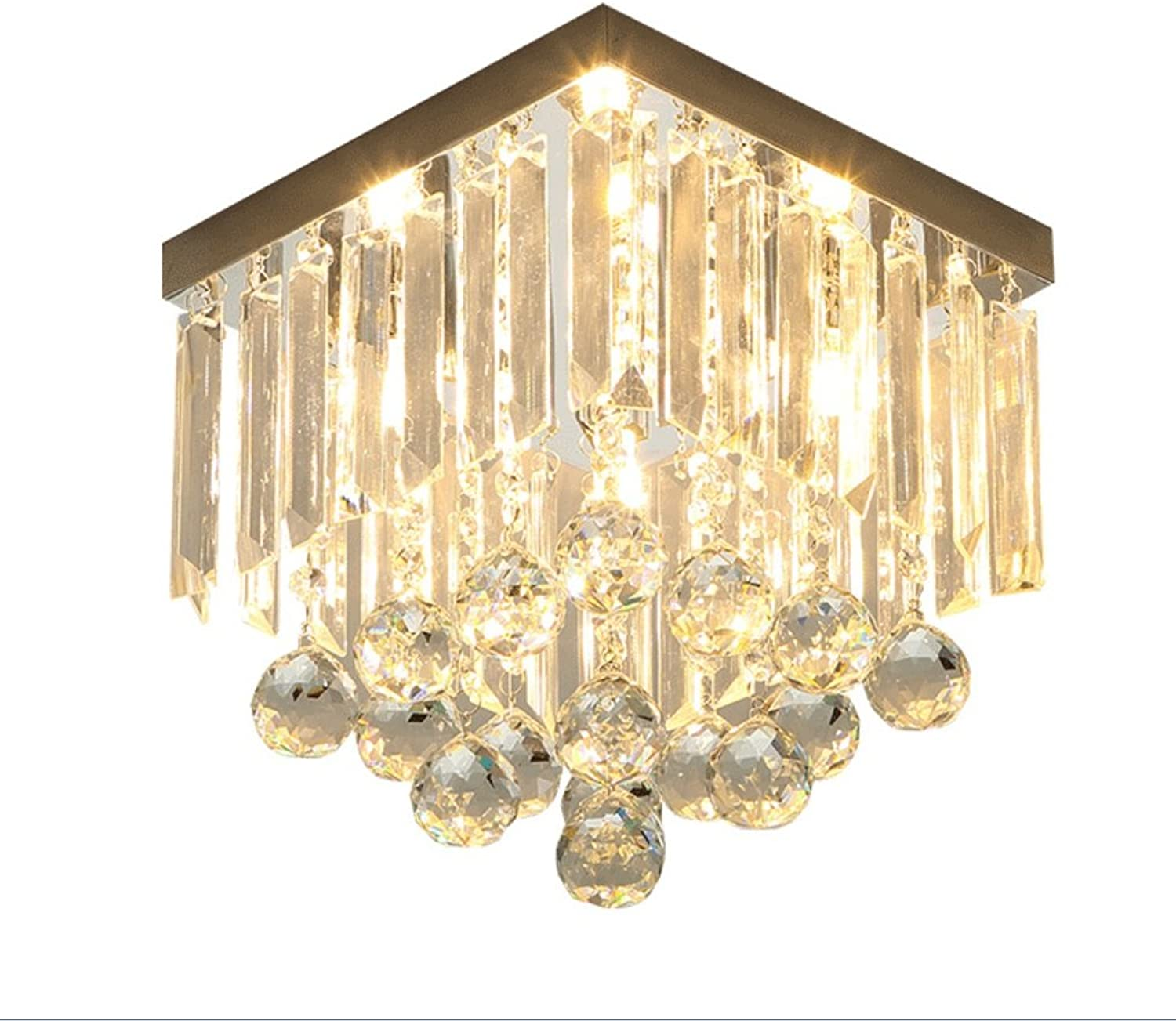 Simple Modern LED Crystal Lights Aisle Lights Square Entrance Hallway Balcony Lights Simple European Lamp Creative Ceiling Lamp