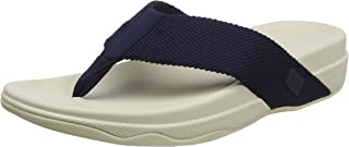 Fitflop Men's Surfer Toe Post-Solid Webbing Flip-Flop