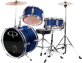 GP Percussion GP50BL Complete Junior Drum Set (Blue, 3-Piece Set)