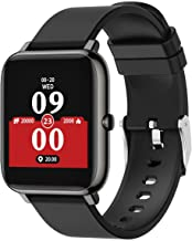 Smart Watch Fitness Tracker Heart Rate Monitor Activity Tracker with 1.3 Inch Touch Screen Step Counter for Women and Men Black
