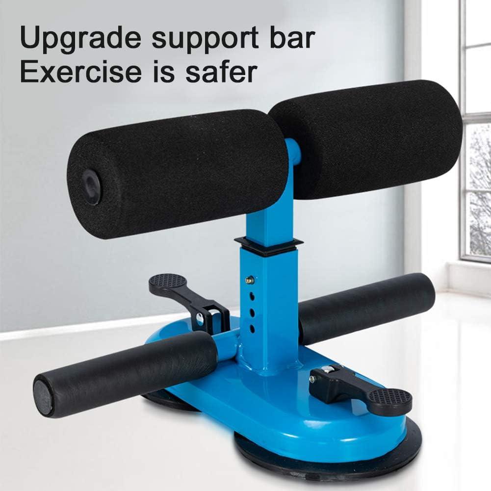 Centeraly Barra Sit-up autoaspirante dispositivo de soporte para sentadillas port/átil ajustable con doble ventosa y espuma suave gruesa mini barra del suelo abdominal para herramientas de gimnasio