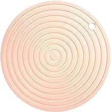 Cabilock Silicone Pot Holders Heat Resistant Non-slip Trivet Mats Hot Pads Multipurpose Trivet For Home Use (Beige)