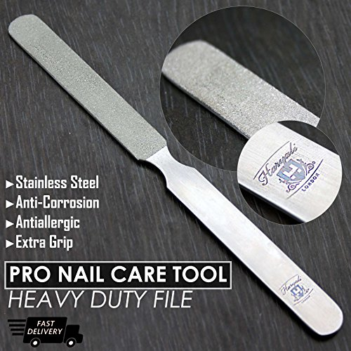Quality Diamond Deb Nail File & Footdresser - Double Sided Diamond Coating - Podiatry Foot care Instruments - 20 cm