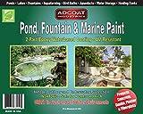 AdCoat Pond, Fountain & Marine Paint - 2-Part Acrylic Epoxy - Interior Exterior - 1 Quart Kit - White