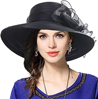 f2cd25e2212 VECRY Lady Derby Dress Church Cloche Hat Bow Bucket Wedding Bowler Hats