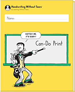 Learning Without Tears - Can-Do Print Student Workbook, Current Edition - Handwriting Without Tears Series - 5th Grade Writing Book - Print Writing, Language Arts Lessons - for School or Home Use