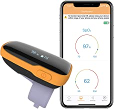 Wellue WearO2 Wearable Health Monitor Pulse Meter with Bluetooth Free APP, Continuously Tracks SP-O2 & Heart Rate with Notification HR Monitor