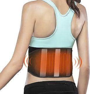 Xcellent Global USB Heated Waist Support Waist Brace Back Heating Pad for Muscle Strain, Dysmenorrhea, Lumbar Acid with 3 ...