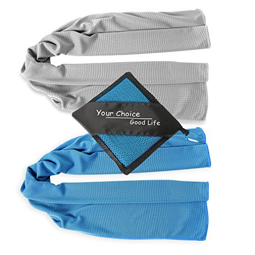 Your Choice Cool Towel- Hand, Neck, Head, Face Cooling Towel Band for Sports, Working Out in Summer Heat Rose Red 16x32 Inch