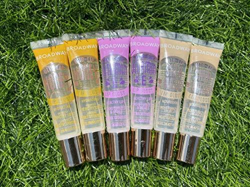 6 PACK Broadway Vita-Lip Gloss 2 Honey + 2 SHEA BUTTER + 2 Vitamin E Oil by Kiss Cosmetics
