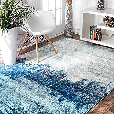 nuLOOM Alayna Abstract Rug, 9' x 12', Blue