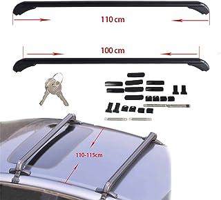 Universal Aluminum Car Top Luggage Roof Rack Cross Bar Carrier Adjustable Window Frame