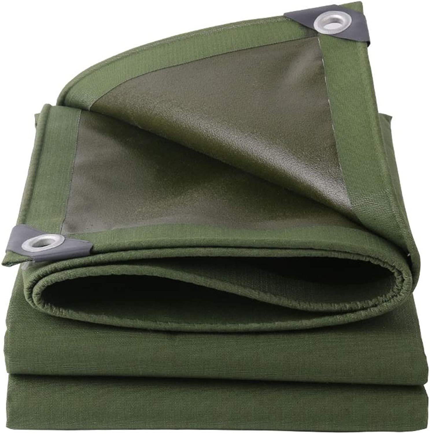 LSLMCS Tarpaulin tarp Green Waterproof Tarpaulin Ground Sheet Covers for Camping Fishing, Gardening and Pets 100% and UV Predected 1.5x2m (Size   3X6m)