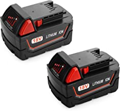 Powilling 2Pack 5.0Ah XC Battery for Milwaukee Battery 18V Lithium Replacement for Milwaukee 48-11-1840, 48-11-1815, 48-11-1820, 48-11-1850 Lithium-ion Milwaukee 18-Volt Battery