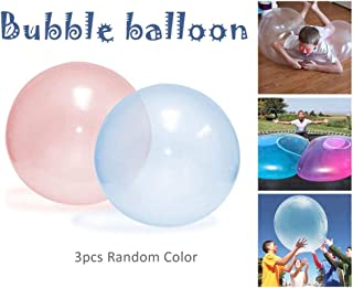 benefit-X 3PCS Toy Balls Inflatable Bubble Balloon Soft, Super Strong, Tear Resistant Beach Ball Children Outdoor Play Toys Kids Inflatable Ball for Kids Adult