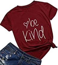 DANVOUY Women Be Kind T Shirt Cute Casual Tops Inspirational Graphic Tees