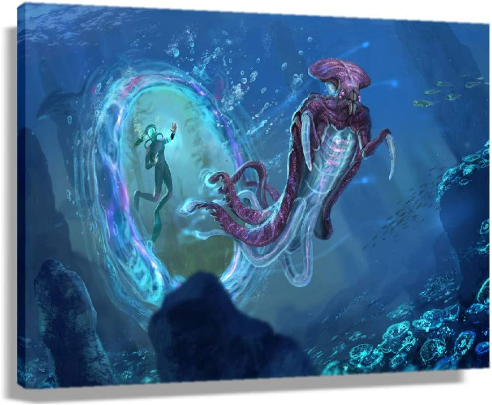 Subnautica Game Poster for Living Room Bathroom Wall Art 1 Max 65% OFF year warranty P Decor