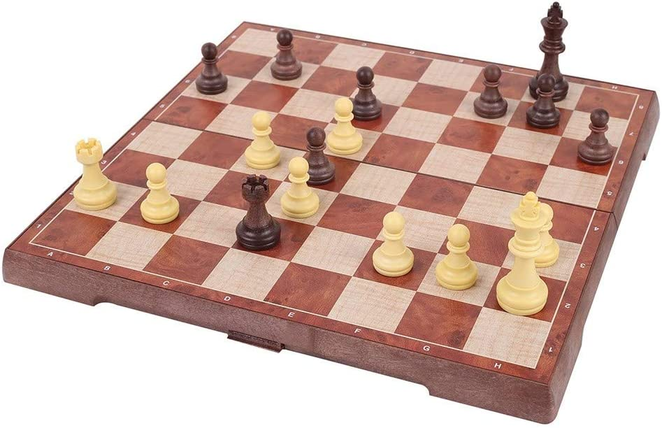 New sales MiOYOOW Magnetic Chess Checkers Wooden Fol Set Don't miss the campaign Travel