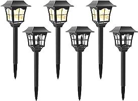 MoSolar 6 Lumens Solar Path Lights Outdoors Waterproof Security Solar Garden Lights Solar Powered LED Landscape Lights,...