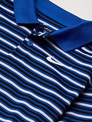 Nike Boys' Multi-Stripe Dry Victory Golf Polo (Game Royal, Large)