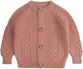 Hstore Baby Little Girls Cardigan for 2T-7T Toddler Kids Girl Solid Sweater Knit Crochet Clothes