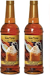 Jordans Skinny Traditional Sugar Free Syrups 750 ml 2 Bottles (Brown Sugar Cinnamon)