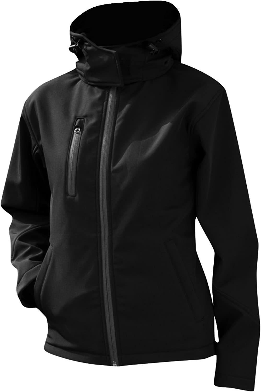 Result Core Womens Ladies Lite Hooded Softshell Jacket