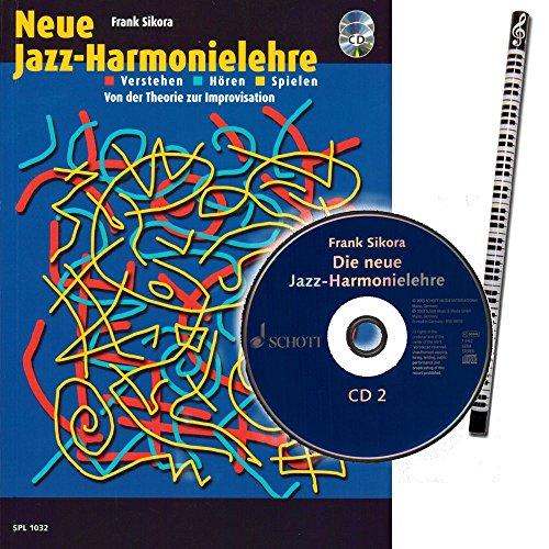 Schott Neue Jazz-Harmonielehre von Frank Sikora mit 2 CD´s und Piano-Bleistift [Noten/Lehrbuch/sheet music] Music SPL1032 9783795751241