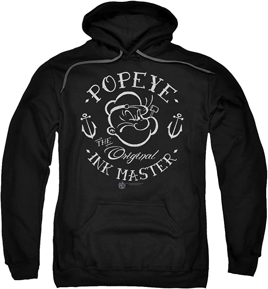 Popeye Ink Master Unisex 送料無料限定セール中 Adult Pull-Over Wome for Hoodie and Men 供え