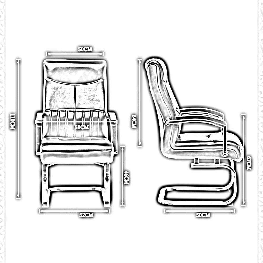 Chaise De Bureau Chaise De Jeu en Cuir PU À Dossier Haut Chaise Pivotante Ergonomique avec Pied d'arc pour La Salle De Réunion De Bureau - Marron Abricot