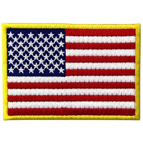 EmbTao Amerikanische Flagge USA Vereinigte Staaten von Amerika Staatswappen Bestickter Aufnäher zum Aufbügeln/Annähen