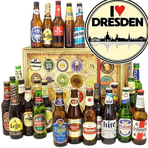 I love Dresden + Bier Paket Welt + Geschenkset Dresden + Bier Adventskalender 2019