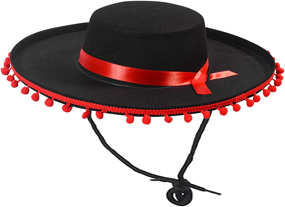 Funny Party Hats Matador Costume – online shopping Spanish Hat Black - and Trust